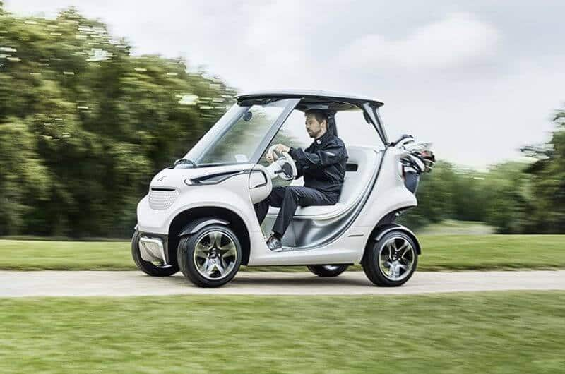 Has garia just launched a mercedes benz style golf car for Mercedes benz golf cart