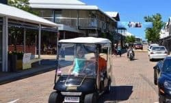golf buggy at sanctuary cove