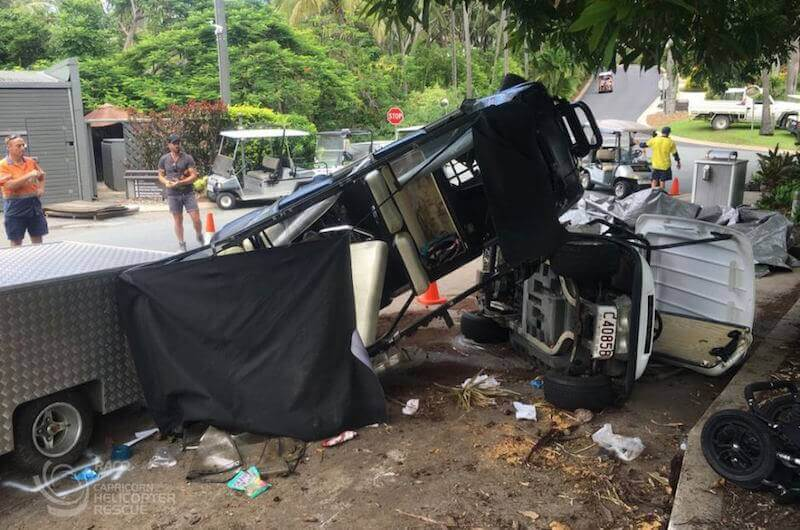 <span class='p-name'>Nine Injured in Golf Cart Accident at Hamilton Island</span>