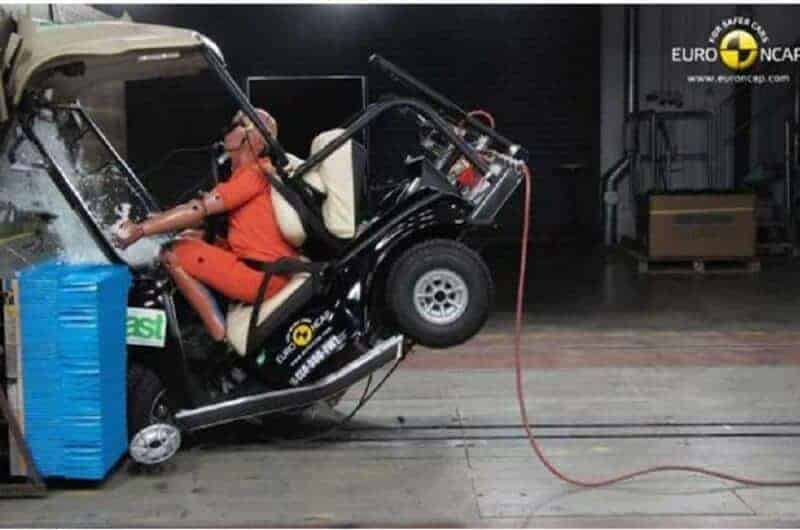 Why do Golf Carts Fail Crash Tests?